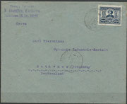Cover from Warszawa (Poland) to Rathenow (Germany) dated 10.07.1923, with the Kopernikus stamp Poland 182, stamp issued with another value celebrating the 450 th anniversary of N.Kopernikus, frontside with mail adress and stamp and postmark