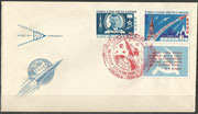 Wostok 1 launch cover dated 12.04.1961, postmark from Moskau
