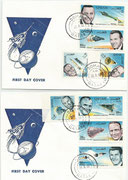 Qatar, Gemini 6 and 7 honoring the US astronauts, FDC imperforate set