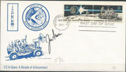 2.8.1971, FDC and launch from moon , orig.signed by Irwin