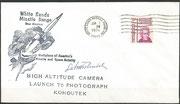 Investigation cover of the comet Kohoutek by Skylab 4, orig. signed by Kohoutek