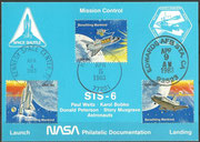 STS-6 NASA Philatelic documentation card