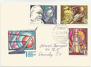 CCCP, Sojus 3 FDC set 3605/07, dated 12.04.1969