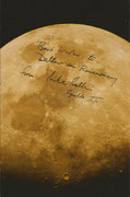 Surface of the Moon with personal remarks and handsigned by Michael Collins
