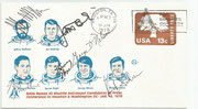 Cover  orig.signed candidates Jeffrey Hoffman (STS13 and STS 19), Jon McBride (STS 13 and STS 19), Richard Mullane (STS 12), Steven Nagel (STS 13,STS 22 and STS 55), George Nelson (STS 24 and STS 26) and  Francis Scobee ( STS 11 and STS 25)