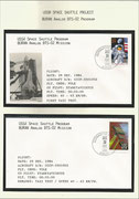 Russia, BURAN-mission, 2 mission-covers from taxi test dated 29.12.1984