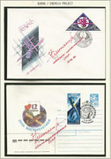 Russia, 2 covers orig.signed by Space Shuttle test pilot Ural Sultanov