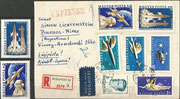 Hungary Yuri Gagarin 1753/54 A and registered cover with the same stamps and stamps 1758/61 A