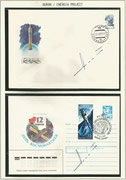 Russia, 2 covers orig.signed by Space Shuttle test pilot Magomed Tolboyev
