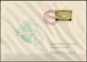 Germany, 04.11.1933 not flown cover with vignette and 2 cancels, it was the first night launch from Stiege to Hasselfeld, all flown covers have to have the signature of Zucker, 370 flown covers are existing