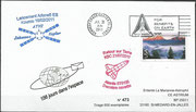 ATV-2 (Johannes Kepler) flown cover issued from La Marianne 473 from 600 items, launch of ATV-2  16.02.2011, docking to ISS 24.02.2011, the cover landed with last STS-135 Space Shuttle flight on 21.07.2011.