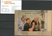 Sojus TMA-03M, ISS Expedition 30, payload training 28 march-1april 2011 from Pettit and Kuipers instructed by Uwe Müllerschkowski, Businesscard orig.signed by Müllerschkowski