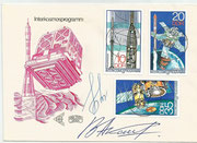 Sojus 22 crew orig.signed Intercosmos programm ( which started with Sojus 28 ) DDR FDC by Vladimir Aksenov and Valery Bykovski  with 2310/2312