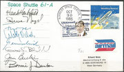 Launch cover STS-61A orig.signed by complete crew