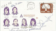 Cover  orig.signed candidates Sally K.Ride (STS 7 and STS 13), Kathryn Sullivan (STS 13 and STS 31), Shannon Lucid (sTS 18 and STS 34), Dr.Margaret Seddon (STS 14), Dr.Anna Fisher (STS 14) and  Judith Resnik (STS 12 and STS 25)