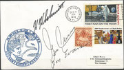 Launch cover during night 7.12.1972, orig. signed by complete crew, KSC cachet ca. 10000 issued