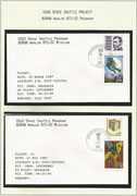 Russia, BURAN-mission, 2 mission-covers from taxi test dated  30.03.1987 and taxi test 21.05.1987