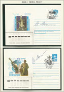 Russia, 2 covers orig.signed by Space Shuttle test pilot Igor Volk (Sojus T-12 /Saljut 7 cosmonaut)