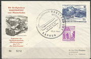 Austria, flown cover 2nd official rocket mail austria, dated 25.06.1962, 12.864 flown covers, 5243 crashed (GrossGlockner Crash)