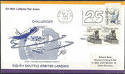 Landing cover STS-8 Edwards dated 5.9.1983 (night landing)
