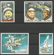 Cuba, Sojus 28 set with 3466/71