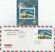 In Memoriam Yuri Gagarin Ajam FDC with 459B and M141
