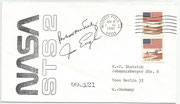 STS-2 launch cover orig. signed by Engle and Truly