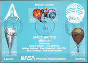STS-41G  NASA Philatelic documentation card
