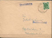 Cover dated 3.6.1952 with special postmark and sent to Saarbrücken with Posthorn stamp 10 Pfennig, Kepler discovered the movements of the planets and the three rules named Kepler rules.
