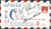 14.12.1972, Apollo 17 lauch cover from the moon orig.signed by complete crew Schmitt, Cernan and Evans
