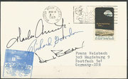 Apollo 12, launch cover dated 14.11.1969 orig.signed by the complete crew Conrad, Gordon and Bean, KSC cachet 3929 items issued, machine cancelled