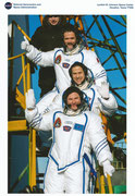 Sojus TMA-07M Missionsphoto (NASA-Litho) with Romanenko, Hadfield and Marshburn