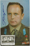 CCCp, Sojua 7 autogramcard orig. signed by  W. with 3683