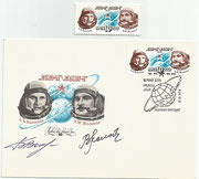 CCCP, Sojus 21 crew orig. signed FDC by  Boris Volynov and Vitaly Zholobov with 4515