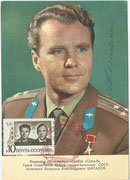 CCCP, Sojus 8 autigramcard orig. signed by W.Shatalow with 3684