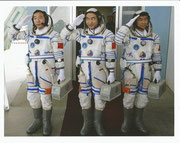 Shenzhou 7 crew photo before launch