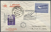 Austria, flown cover 1st official rocket mail austria, crash cover!!, dated 23.05.1961, total 12 rockets with 10.550 flown covers, 900 crashed
