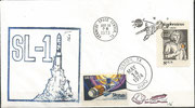 Launch cover Skylab 1, KSC cachet ca.10000 issued