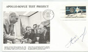USA . Sojus 197Apollo , Cosmonaut A.Yelliseijew orig. signed Apollo/Sojus cover with 1046