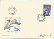 Romana,  Sojus 5 FDC orig. signed by  A.Jellisejew with stamp from minisheet 71