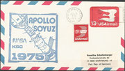 15.7.1975,launch from Apollo spaceship , docking with Sojus 19 on 19.7.1975, KSC cachet issued 12000 items