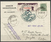 Rocketflight No.83, My-Ona, dated 27.09.1935, 190 cards are flown and orig.sigend by Smith