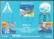 STS-7 NASA Philatelic documentation card