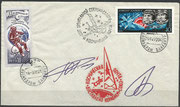 10.12.1977, launch cover Sojus 26 orig. signed by complete crew