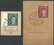 2 stamps used Generalgouvernement, one issued 20.11.1942 M 96 and one issued 23.05.1943 M 104, both with postmark Krakau 23.05.1943, 400 th day of death of N.Kopernikus