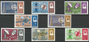 Qatar 64A/71A, perforate 8 stamps printed in full  sheets of 25 , mnh, issued 100.000