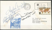 17.4.1967, launch of Surveyor 3,Apollo 12 landed only 183m far from Surveyor 3 on the moon, cover orig. signed by complete crew Apollo 12