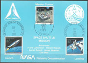 STS-51 NASA Philatelic documentation card
