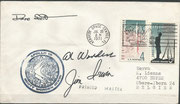 Launch cover Apollo 15, KSC cachet ca.3750 issued, autopen signed by complete crew