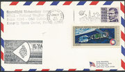 Cover of 10th aniversary of the Apollo disaster with faked KSC cachet in black, from the real blue cachet for the disaster day  dated 27 january 1967 only 65 itmes exist